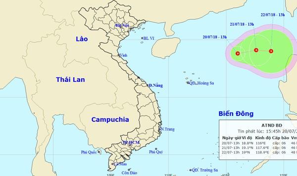 Xuất hiện áp thấp nhiệt đới mới trên biển Đông