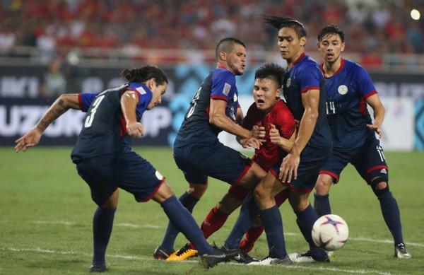 Quang Hải là tác giả bàn mở tỷ số cho Việt Nam trong một trận đấu mà anh và đồng đội đã chơi đầy cố gắng. Ảnh: Lâm Thoả.