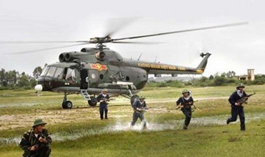 Công an huyện có thể được cấp trực thăng