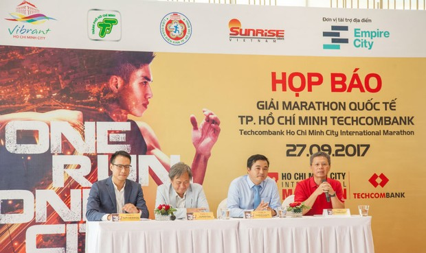6.000 vận động viên sẽ tham gia Giải Marathon Quốc tế TP. HCM Techcombank năm 2017