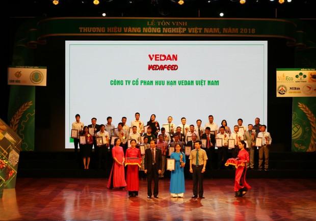 Vedan liên tiếp đạt giải thưởng Thương hiệu vàng Nông nghiệp Việt Nam