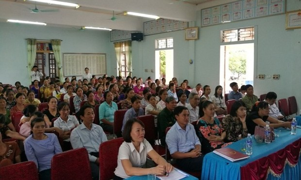 Chi nhánh BHTGVN khu vực Bắc Trung Bộ: Tuyên truyền chính sách BHTG tại xã Thanh Lĩnh