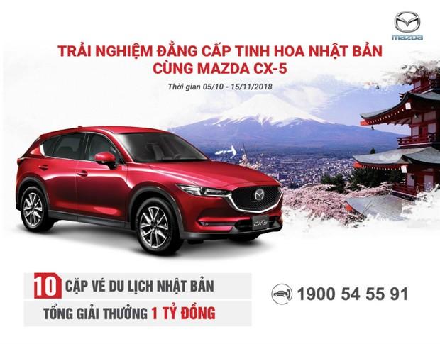 Mua Mazda CX-5 nhận chuyến du lịch Nhật Bản