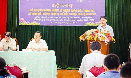 Đối thoại về những vướng mắc trong áp dụng Bộ luật dân sự tại Hà Tĩnh
