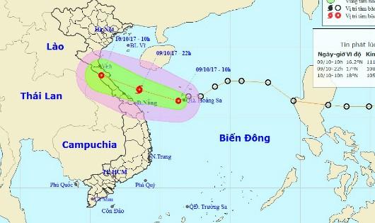 Cảnh báo đêm nay bão cấp 8 đổ bộ vùng biển Hà Tĩnh đến Quảng Trị