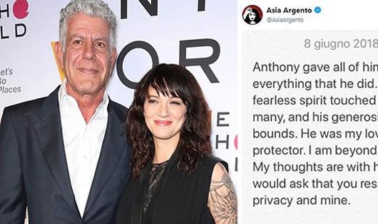 Bạn gái sốc nặng sau khi đầu bếp Anthony Bourdain tự tử