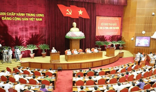 Tổng Bí thư chủ trì Hội nghị toàn quốc về công tác phòng, chống tham nhũng