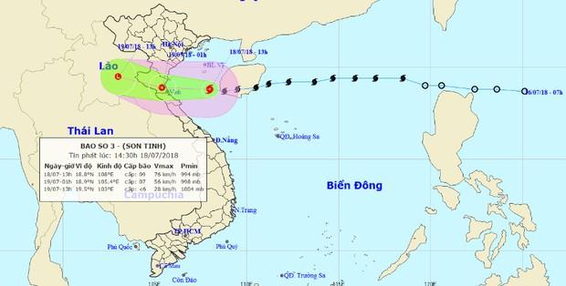 Bão đi vào Vịnh Bắc Bộ, chiều nay nhiều tỉnh mưa rất to