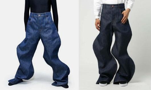 Quần jeans dáng lượn sóng khó mặc có giá hơn 20 triệu đồng