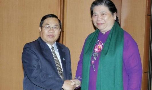 Quốc hội Việt Nam luôn coi trọng quan hệ đối ngoại với Quốc hội Lào