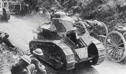 Một chiếc xe tăng FT trong Thế chiến 1