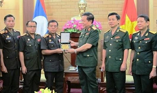 Triển khai hợp tác giữa Văn phòng Tổng cục Chính trị QĐND Việt và Lào