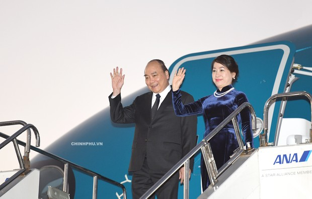 Thủ tướng Nguyễn Xuân Phúc và Phu nhân đã đến Tokyo, Nhật Bản
