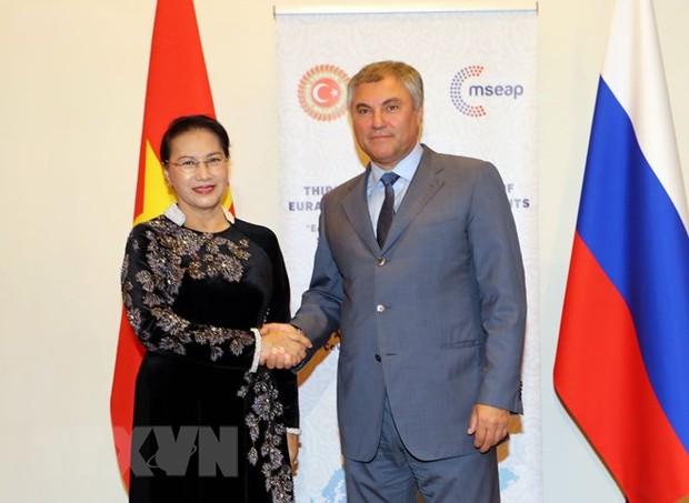 Chủ tịch Quốc hội ủng hộ sáng kiến lập  Ủy ban liên nghị viện cấp cao Việt Nam- Liên bang Nga