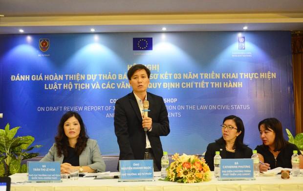 Thứ trưởng Bộ Tư pháp Nguyễn Khánh Ngọc: Cần tạo điều kiện thuận lợi tối đa cho người dân trong đăng ký hộ tịch
