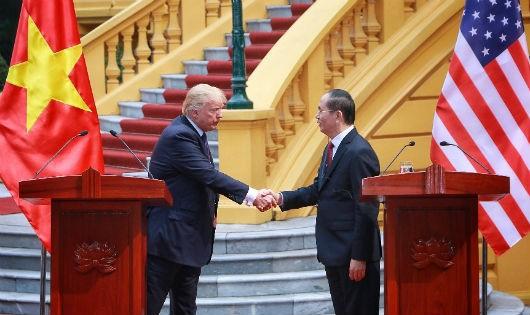 Tổng thống Mỹ ngợi ca Chủ tịch nước Trần Đại Quang