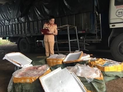 Thanh Hóa: Bắt xe vận chuyển 2,5 tấn thực phẩm không rõ nguồn gốc