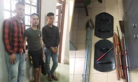 Công an Nga Sơn (Thanh Hóa) bắt 3 đối tượng giữ người để đòi nợ