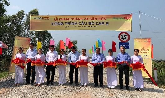 Long An: Khánh thành cầu giao thông nông thôn do MobiFone tài trợ xây dựng