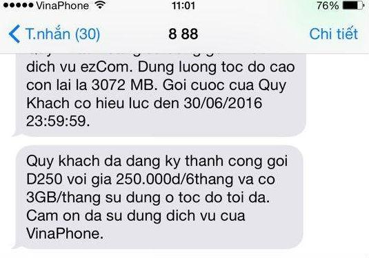 Dịch vụ 3G 'mập mờ' - Vinaphone âm thầm thỏa thuận với khách hàng