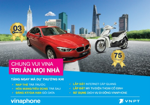 Dùng dịch vụ của VNPT có cơ hội trúng xe BMW