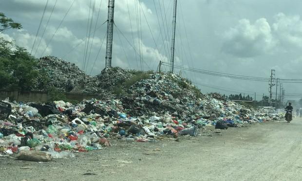 """Yên Phong (Bắc Ninh): """"Báo động"""" tình trạng ô nhiễm từ rác thải"""