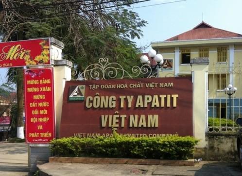 Apatit Việt Nam nắm 70% vốn điều lệ tại Phốt pho Apatit