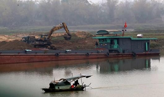 Tạm dừng thi công dự án nạo vét tuyến sông Cầu