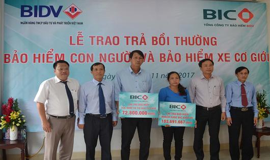 BIC chi trả bồi thường hơn 1 tỷ đồng cho khách hàng tại Gia Lai và Kon Tum
