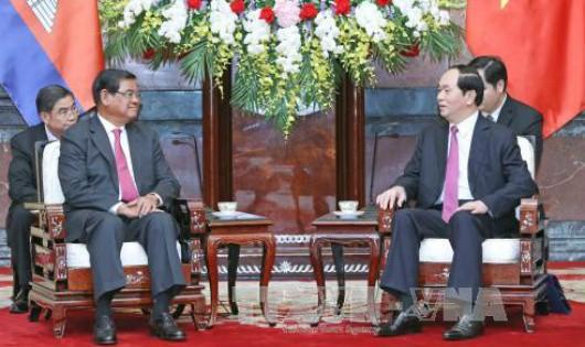 Chủ tịch nước Trần Đại Quang cảm ơn Campuchia giúp đỡ kiều dân Việt