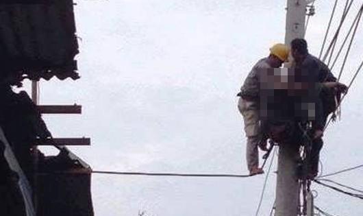 Tai nạn hy hữu, một nam công nhân bị điện giật tử vong