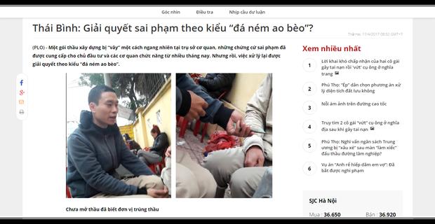 Thái Bình: Vì sao đi mua hồ sơ thầu lại...được tiền?