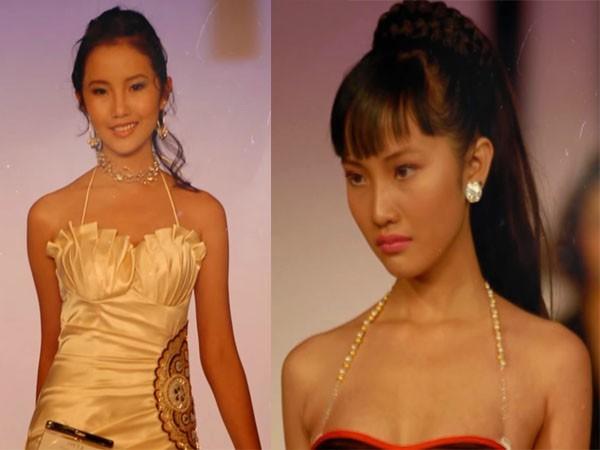 Xuân Thảo tự tin trình diễn trong cuộc thi người mẫu tại Mỹ năm 2008.