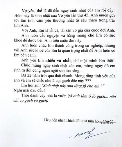 Anh chồng Quảng Ninh tặng sinh nhật vợ hai viên gạch - 6