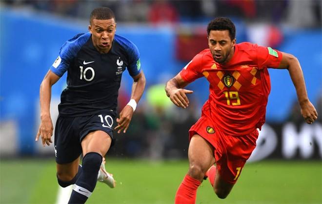 Trong trận đấu, Mbappe nhiều lần khiến hàng thủ Bỉ khổ sở...