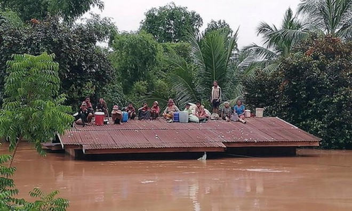 Nhiều nơi ở Lào vẫn đang bị cô lập. Ảnh: ABC Laos News