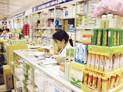 Một gian bán thuốc ở chợ C2-C9-C10 Giảng Võ. Ảnh Internet