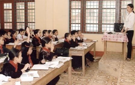 Một lớp học vùng cao