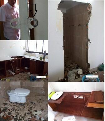 Quang cảnh hoang tàn trong nhà ông Bình - bà Loan.