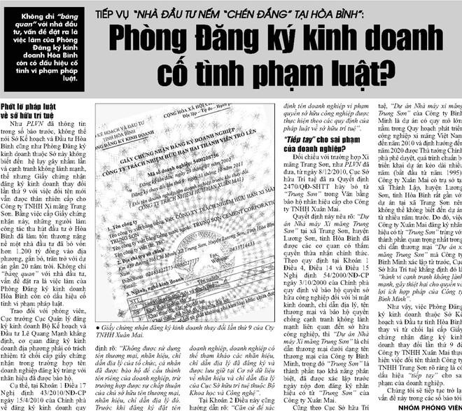 """Phán quyết của TAND tỉnh Hòa Bình bị cho là """"tiếp tay"""" cho hành vi """"cướp""""  thương hiệu"""