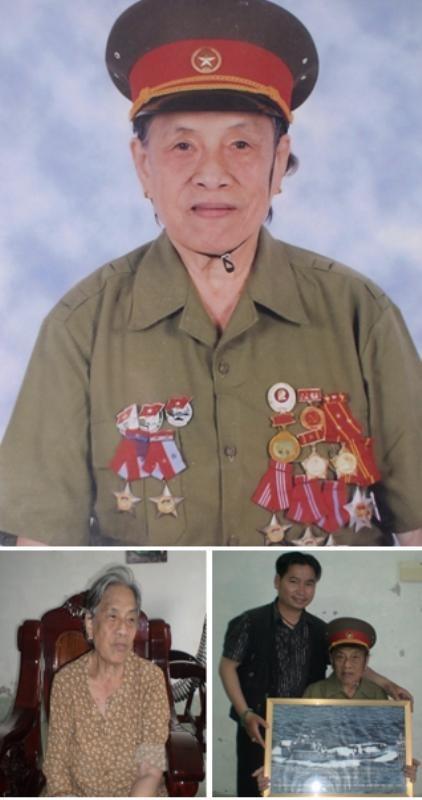 Bà Nguyễn Thị Lan (tức Bảy Thu) lật lại cuốn sổ nhật ký, hiện bà  sống tại Kiên Giang.