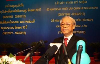 Tổng Bí thư Nguyễn Phú Trọng đọc diễn văn trong lễ mít tinh