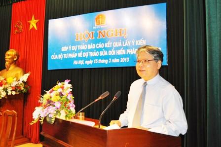 Bộ trưởng Bộ Tư pháp Hà Hùng Cường chỉ đạo Hội nghị