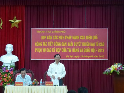 Tổng Thanh tra Chính phủ Huỳnh Phong Tranh chủ trì cuộc họp