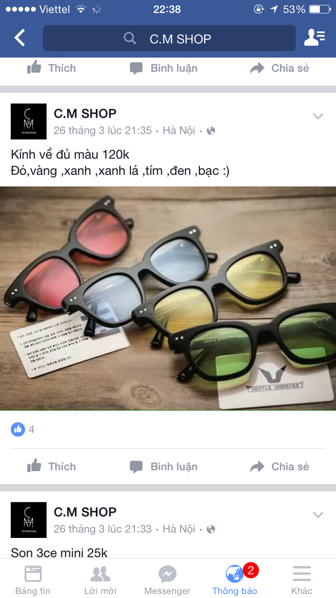 kính mắt kém chất lượng