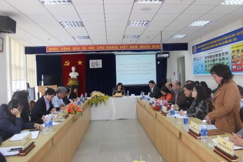 Thứ trưởng Đặng Hoàng Oanh làm việc với Sở Tư pháp tỉnh Lâm Đồng