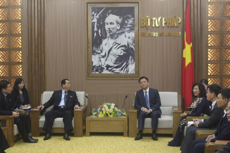 Bộ Tư pháp Việt Nam không ngừng củng cố, vun đắp các mối quan hệ ngoại giao tốt đẹp