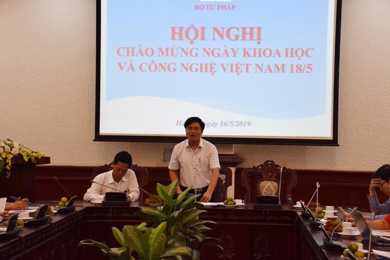 Bộ Tư pháp tổ chức Hội nghị Chào mừng Ngày Khoa học và Công nghệ Việt Nam