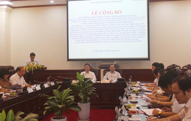 Ban Cán sự Đảng Bộ Tư pháp tiếp tục làm tốt công tác xây dựng và chỉnh đốn Đảng