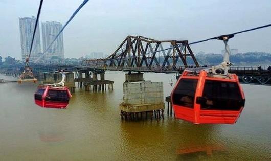 Cáp treo vượt sông Hồng là chưa phù hợp